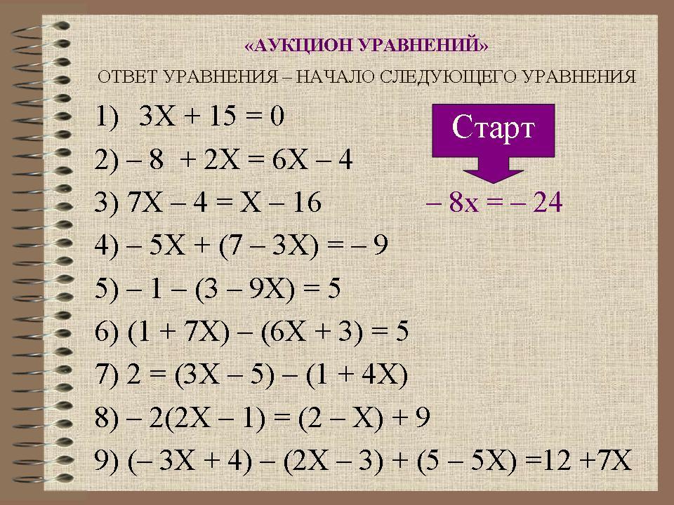 Тренажоры по алгебре 7 класс